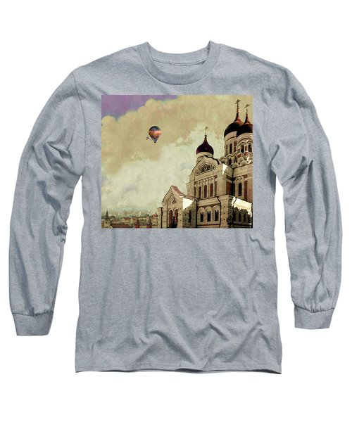 Alexander Nevsky Cathedral In Tallin, Estonia, My Memory. Long Sleeve T-Shirt by Jeff Burgess