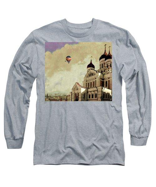Alexander Nevsky Cathedral In Tallin, Estonia, My Memory. Long Sleeve T-Shirt