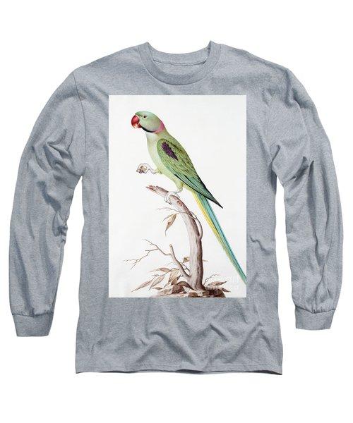 Alexandrine Parakeet Long Sleeve T-Shirt by Nicolas Robert