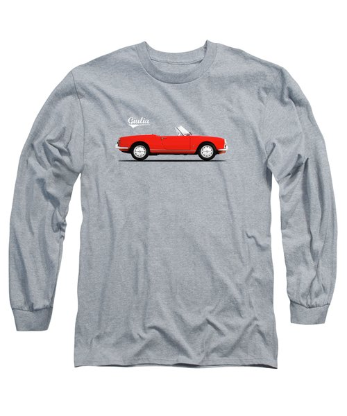 Alfa Giulia Spider 1964 Long Sleeve T-Shirt by Mark Rogan