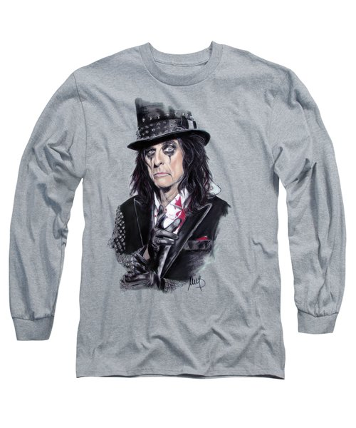 Alice Cooper Long Sleeve T-Shirt by Melanie D