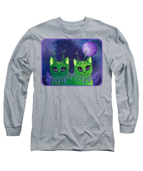 Alien Cats Long Sleeve T-Shirt