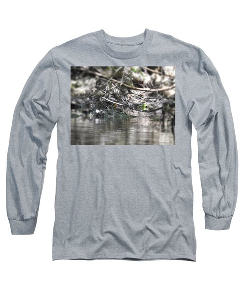 Alligator In Silver Long Sleeve T-Shirt