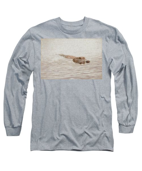 Alligator Waiting In The Water Long Sleeve T-Shirt