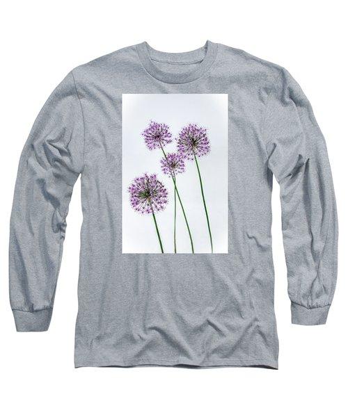 Alliums Standing Tall Long Sleeve T-Shirt by Susan  McMenamin