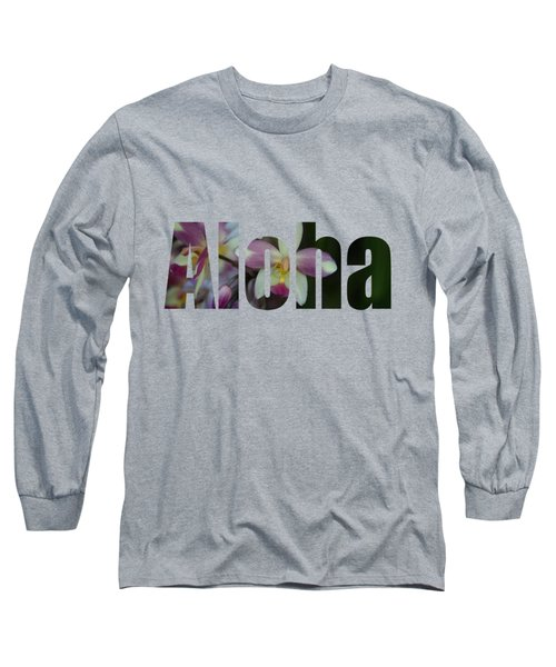Aloha Orchids Type Long Sleeve T-Shirt by Kerri Ligatich