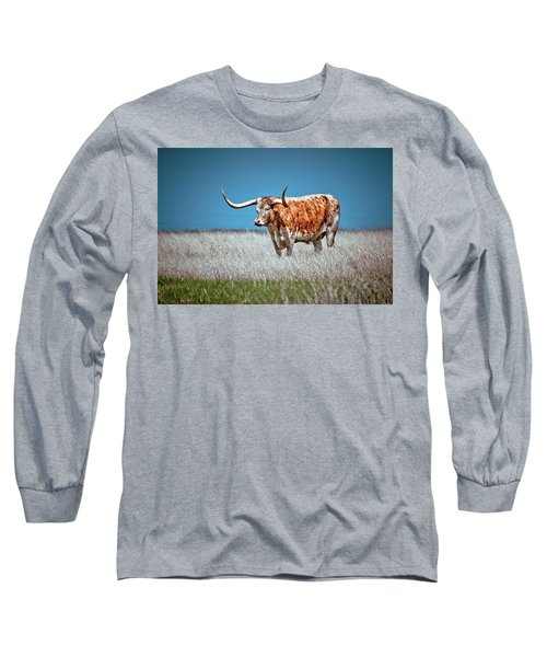 Long Sleeve T-Shirt featuring the photograph Alone On The Trail by Linda Unger