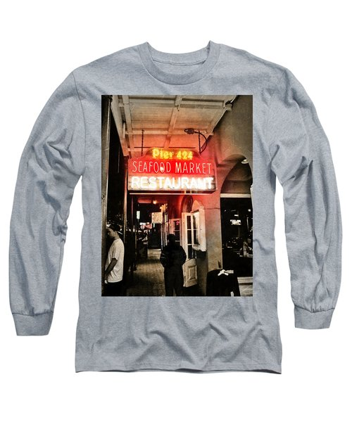 Long Sleeve T-Shirt featuring the photograph Along Bourbon Street - New Orleans by Glenn McCarthy Art and Photography