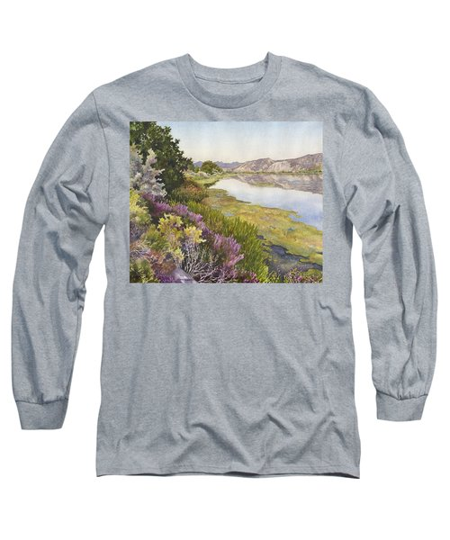 Long Sleeve T-Shirt featuring the painting Along The Oregon Trail by Anne Gifford