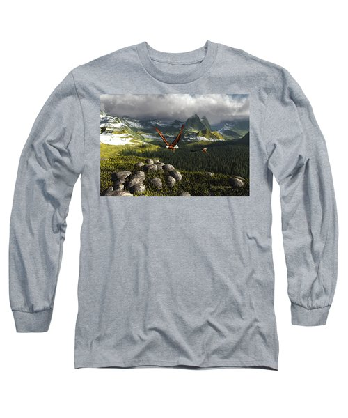 Along The Pinnacles Of Time Long Sleeve T-Shirt