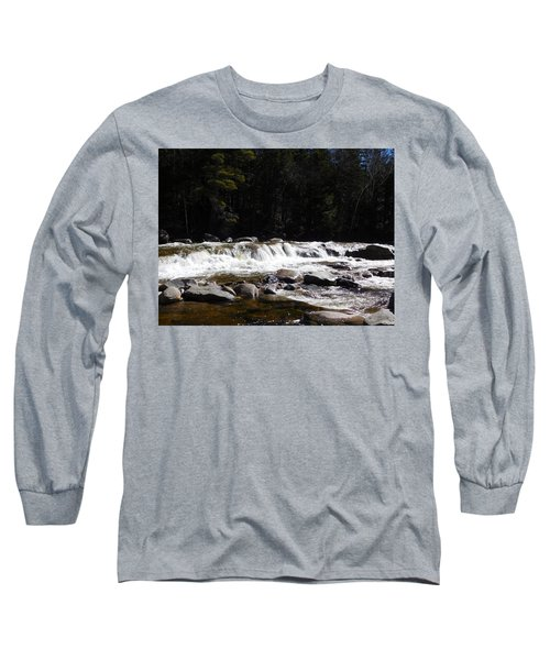 Along The Swift River Long Sleeve T-Shirt by Catherine Gagne