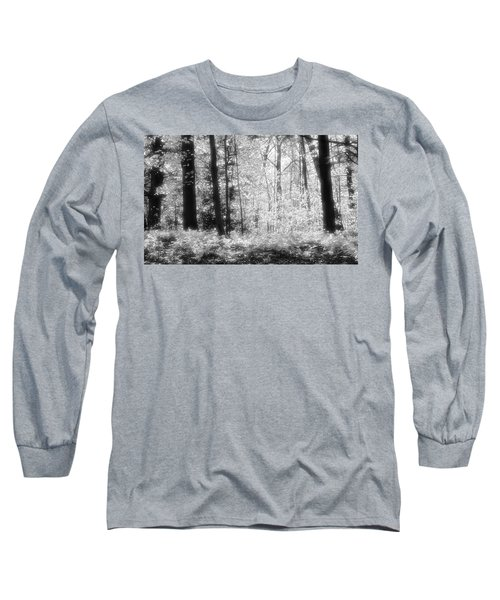 Along The Top Bw  Long Sleeve T-Shirt by Lyle Crump