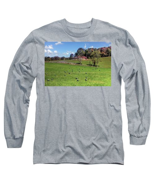 Long Sleeve T-Shirt featuring the digital art Along The Tracks by Sharon Batdorf