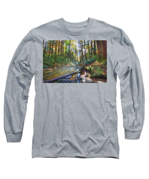 Long Sleeve T-Shirt featuring the digital art Along The Trail In Georgia by Sharon Batdorf