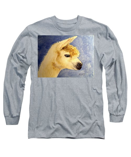 Long Sleeve T-Shirt featuring the painting Alpaca Baby by Carol Grimes