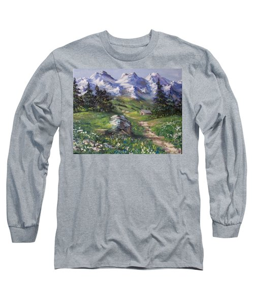 Alpine Splendor Long Sleeve T-Shirt by Megan Walsh