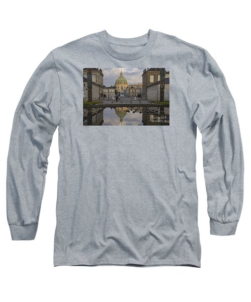 Long Sleeve T-Shirt featuring the photograph Amalienborg Castle And The Marble Church by Inge Riis McDonald