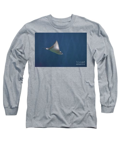 Amazing Stingray Underwater In The Deep Blue Sea  Long Sleeve T-Shirt