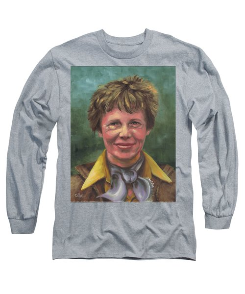 Amelia Earhart Long Sleeve T-Shirt