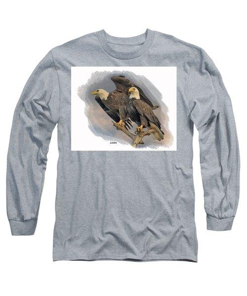 American Bald Eagle Pair Long Sleeve T-Shirt