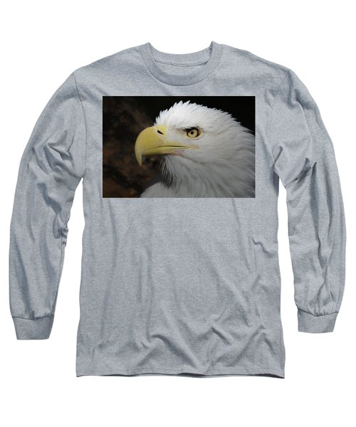 Long Sleeve T-Shirt featuring the digital art American Bald Eagle Portrait 2 by Ernie Echols