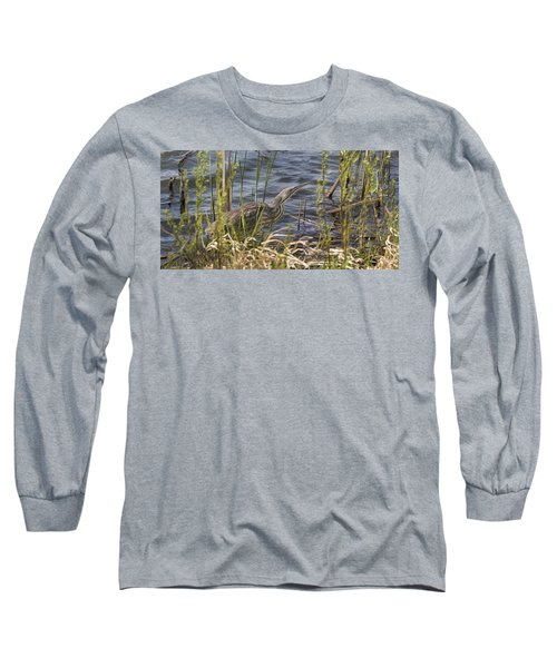 American Bittern Hunting Long Sleeve T-Shirt