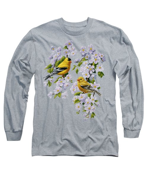 American Goldfinch Spring Long Sleeve T-Shirt