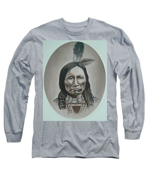 Long Sleeve T-Shirt featuring the painting American Horse by Michael  TMAD Finney
