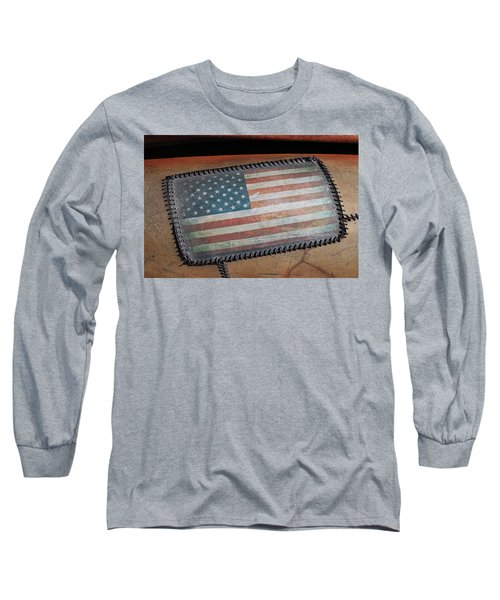 Long Sleeve T-Shirt featuring the photograph American Leather by Christopher McKenzie