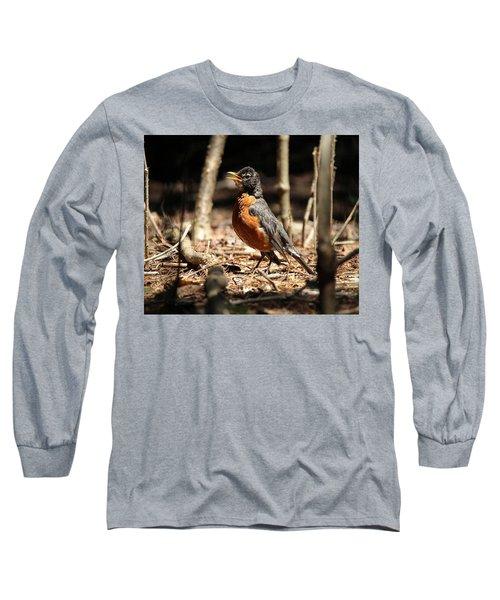 American Robin New York Long Sleeve T-Shirt by Bob Savage