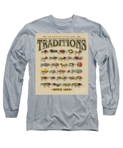 American Traditions Lures Long Sleeve T-Shirt by JQ Licensing Jon Q Wright