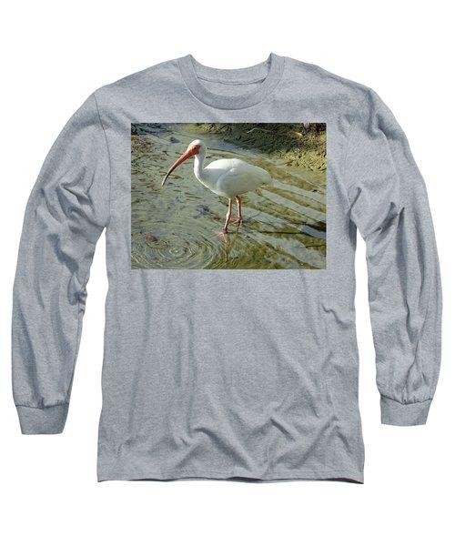 American White Ibis Long Sleeve T-Shirt