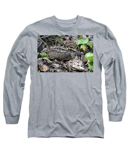 American Woodcock Chick. Long Sleeve T-Shirt
