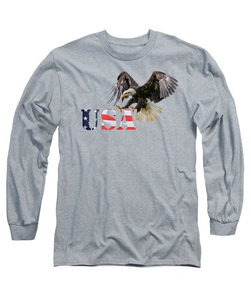 Americ's Eagle Long Sleeve T-Shirt by Scott Carruthers