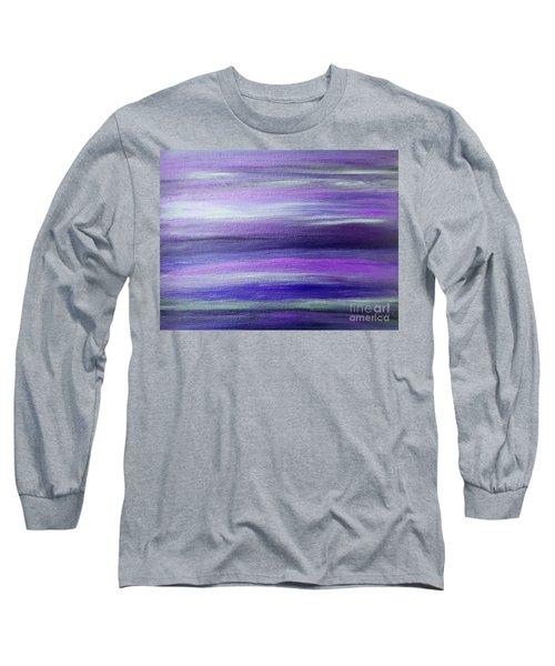 Amethyst Mirage  Long Sleeve T-Shirt by Rachel Hannah