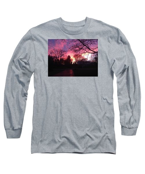 Long Sleeve T-Shirt featuring the photograph Amethyst Sunset by Rebecca Wood