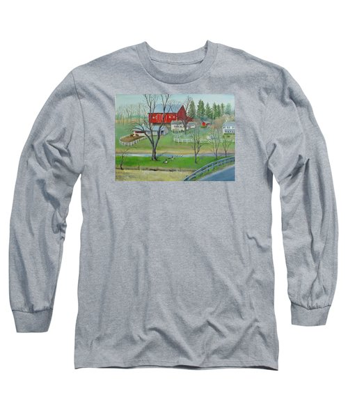 Amish Farm Long Sleeve T-Shirt by Oz Freedgood