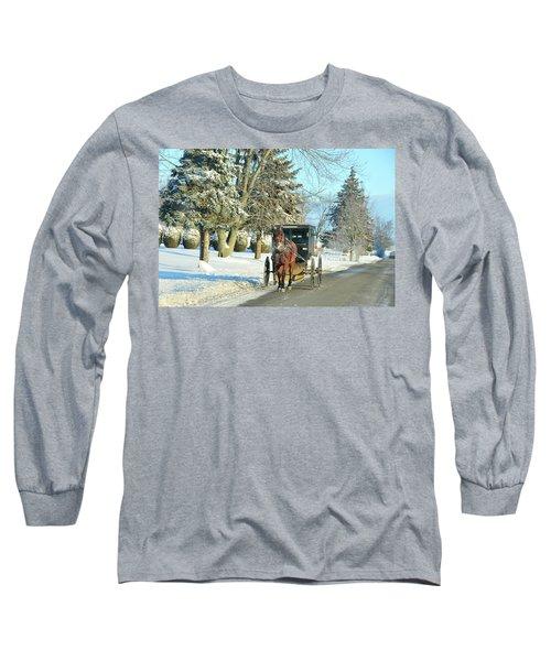 Amish Winter Long Sleeve T-Shirt