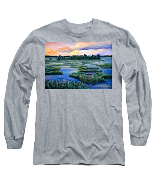 Amongst The Reeds Long Sleeve T-Shirt by Renate Nadi Wesley