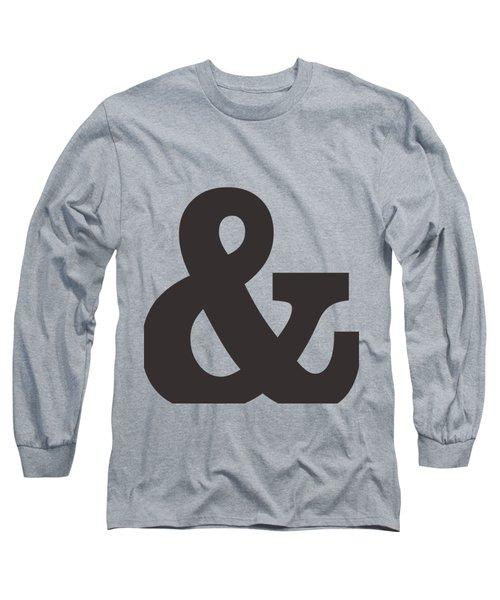 Ampersand - And Symbol 3 - Minimalist Print Long Sleeve T-Shirt