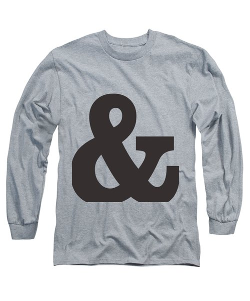 Ampersand - And Symbol 3 - Minimalist Print Long Sleeve T-Shirt