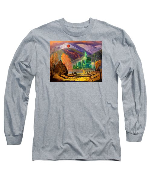 Long Sleeve T-Shirt featuring the painting Oz, An American Fairy Tale by Art West