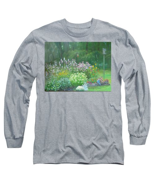 An Angel In My Garden Long Sleeve T-Shirt by Bonita Waitl