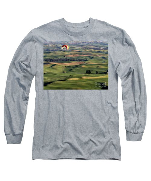An Evening Flight Agriculture Art By Kaylyn Franks Long Sleeve T-Shirt
