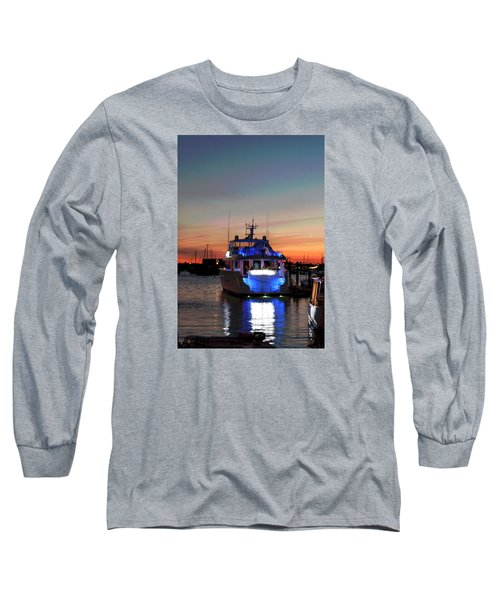 Long Sleeve T-Shirt featuring the photograph An Evening In Newport Rhode Island IIi by Suzanne Gaff