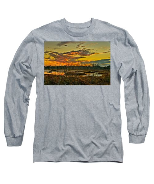 An November Sunset In The Pines Long Sleeve T-Shirt