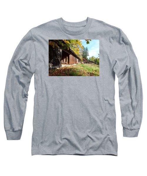An Old Farm Long Sleeve T-Shirt by Mark Alan Perry