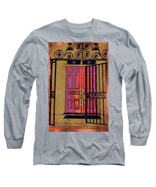 An Open Gate Long Sleeve T-Shirt by Joan Reese