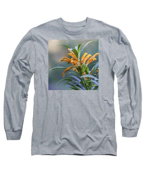 An Orange Flower Long Sleeve T-Shirt