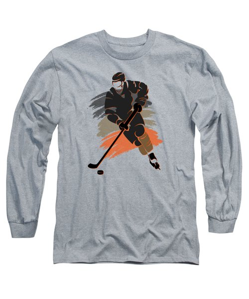 Anaheim Ducks Player Shirt Long Sleeve T-Shirt by Joe Hamilton